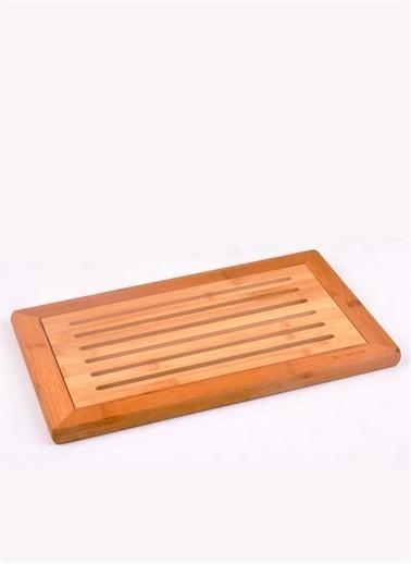 Bayev Ahşap Bambu Delikli Ekmek Kesme Panosu (P/Ahs-700280) Renkli